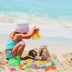 kids fun in beach time