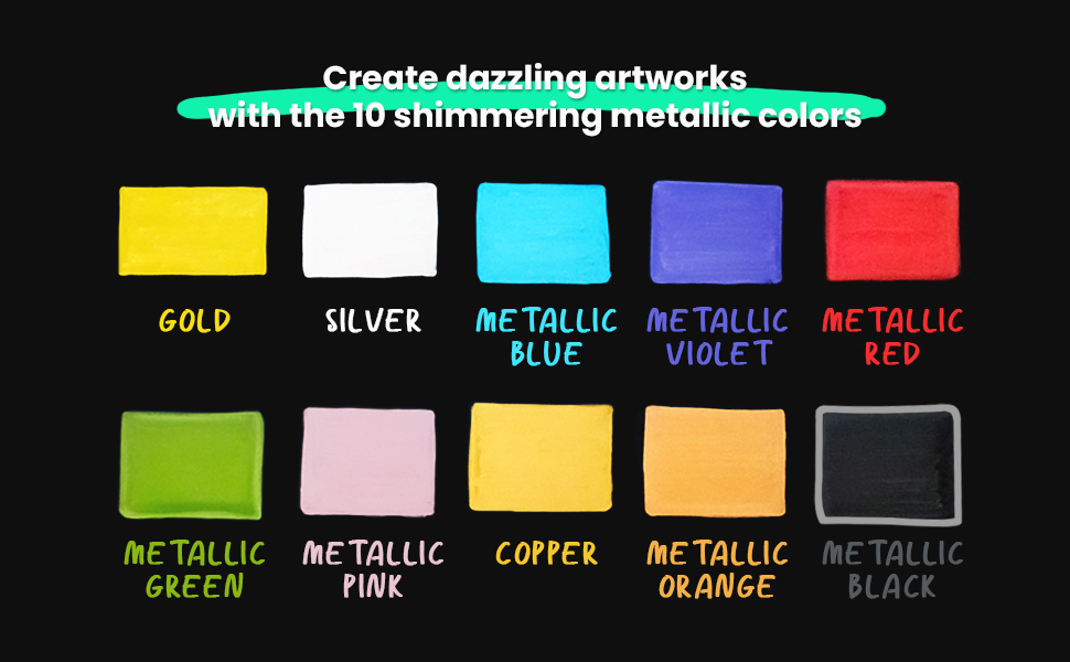 Metallic Liquid Chalk Markers Fine Tip