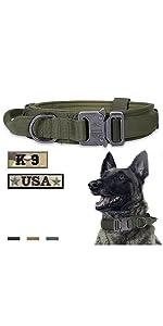 Tactical Dog Collar Green
