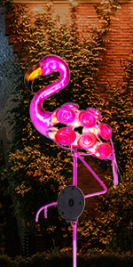flamingo solar lights