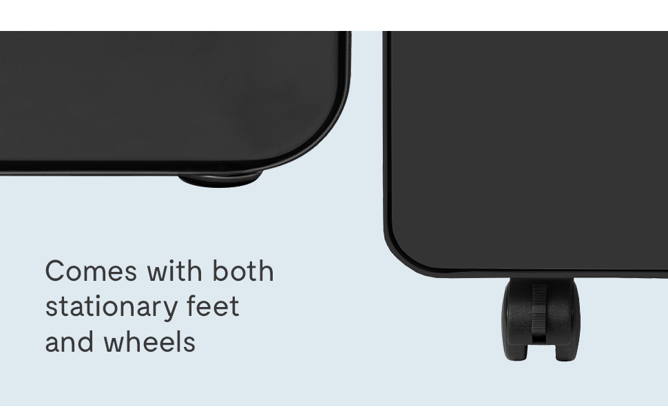 stockpile stationary feet and wheels