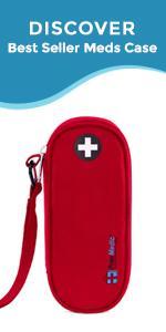 PracMedic Bags COMPACT Medicine Case for Epipen, Auvi Q, Inhaler, Antihistamine