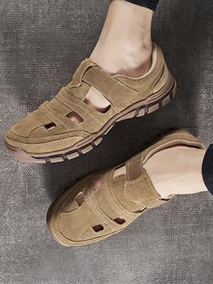 Men's Vintage Leather Summer Sandal Shoes
