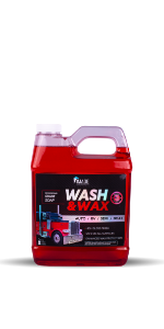 Wash and Wax 64oz bottle - cherry scented snow foam wash soap