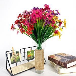 outdoor artificial flowers uv resistant