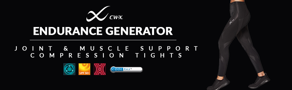 women's cw-x endurance generator muscle and joint support compression tights