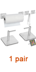 Magnetic Paper Towel Holders Heavy Duty Steel Brushed Holder with Magnetic Backing