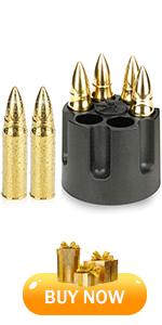 Gold bullet whiskey stones