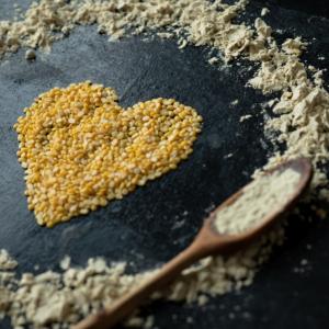 heart made of peas