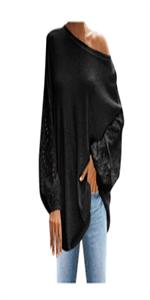 Off-Shoulder Loose Fit Shirt Plus Size Blouses