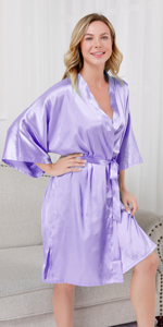 Women silky robes