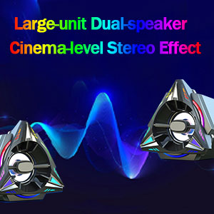 Large-unit Dual-speaker Cinema-level Stereo Effect