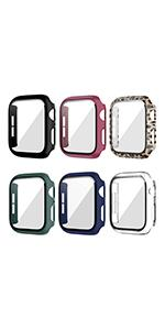 6 pack case with tempered glass screen protector for apple watch series