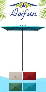 6.5x10ft Rectangular Patio Umbrella