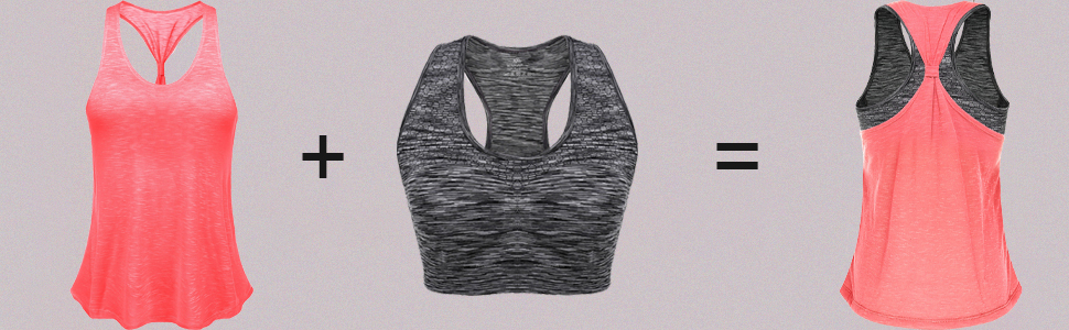 women's active tank Tops for Women Yoga Tank Tops Gym Shirs Workout Clothes Racerback Sports Shirts