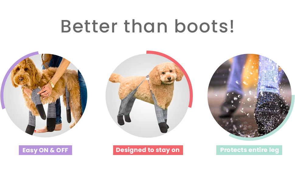 Walkee Paws Snug Fit Dog Leggings, The World's First Dog Leggings That are Dog Shoes, Dog Boots