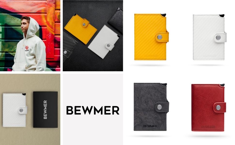 Bewmer portafogli e porta carte di credito in vari colori