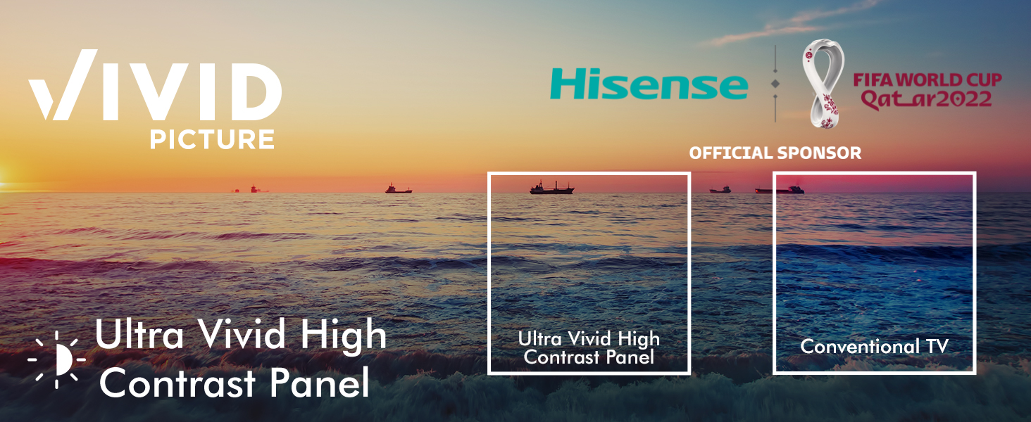 Brighter whites, darker blacks and lively colours offer you a dynamic television viewing experience