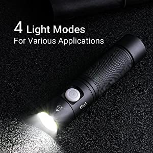 4 mode flashlight
