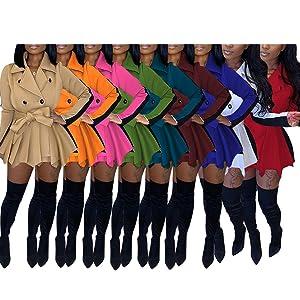 Block Color Trench Coat