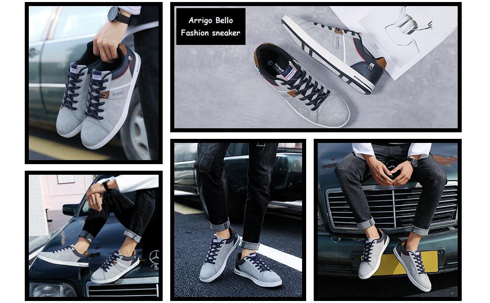 mens fashion sneakers grey