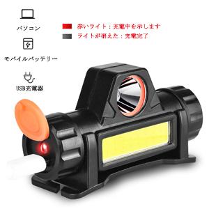 赤いライト:充電中を示します ライトが消えた:充電完了