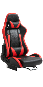Red and black racing seat