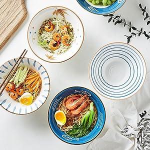Japanese ramen bowls