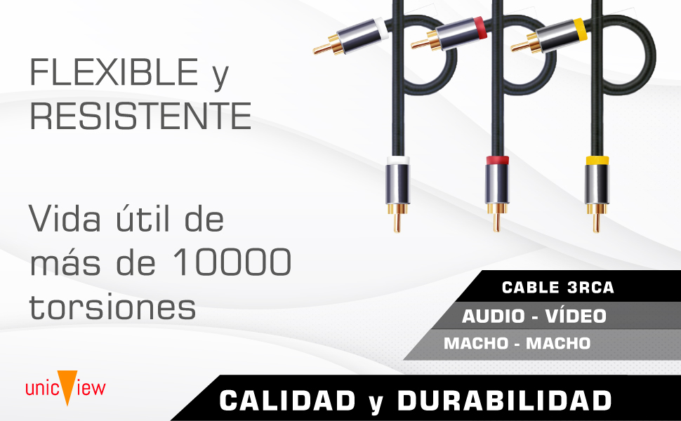 cable rca de audio y video, cable rca 3 metros, cable rca para amplificador