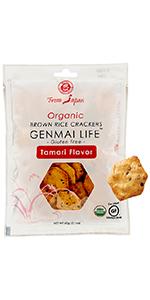 Muso From Japan Organic Brown Rice Crackers Genmai Life Gluten Free Tamari