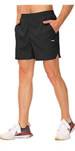 178mens running short with linner