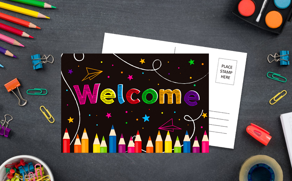 back to school postcards welcome postcards for students welcome to our class postcards from teacher