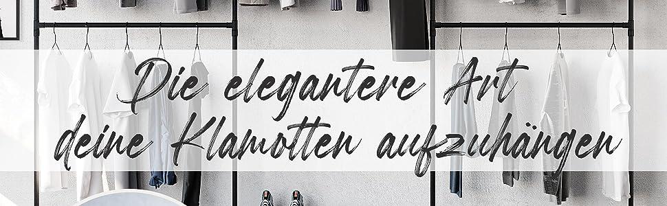 Kledinghanger kledingstang hanger muur vrijstaand pamo design zwart mat kledingkast