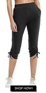 Women's Capri Sweatpants with Pockets