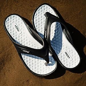 Kilter womens ladies pulsar cushioned flip flops sandals lightweight EVA orthopaedic supportive
