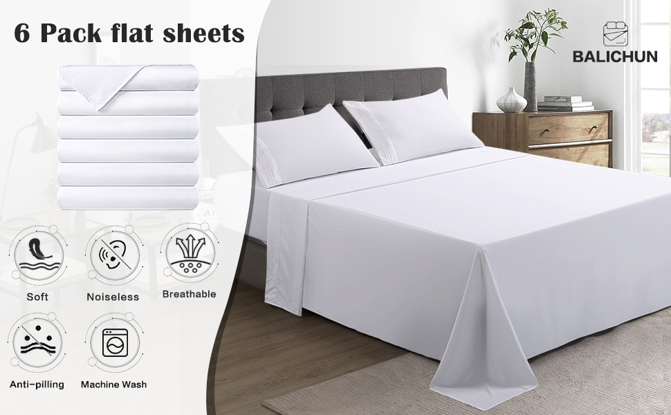 6 pack flat sheets