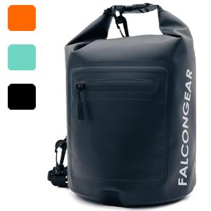 5L dry bag black mint orange