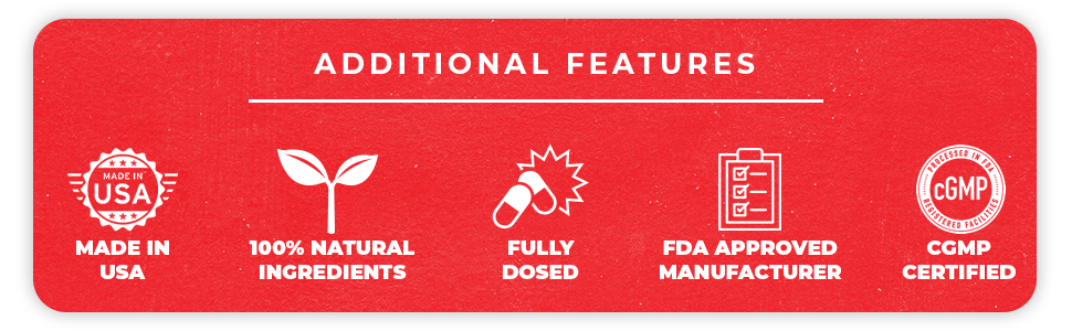 Additional Features: Made in the USA, 100% Natural Ingredients
