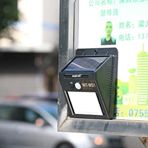 Solar Lights Outdoor Infrared Motion Sensor Activated Sound Speaker