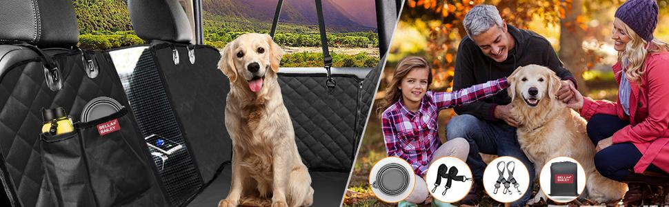 pet seat covers waterproof with extra removable pad and bonus dog travel bowl
