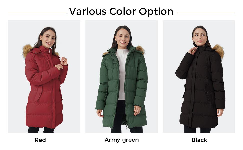 women parka coat
