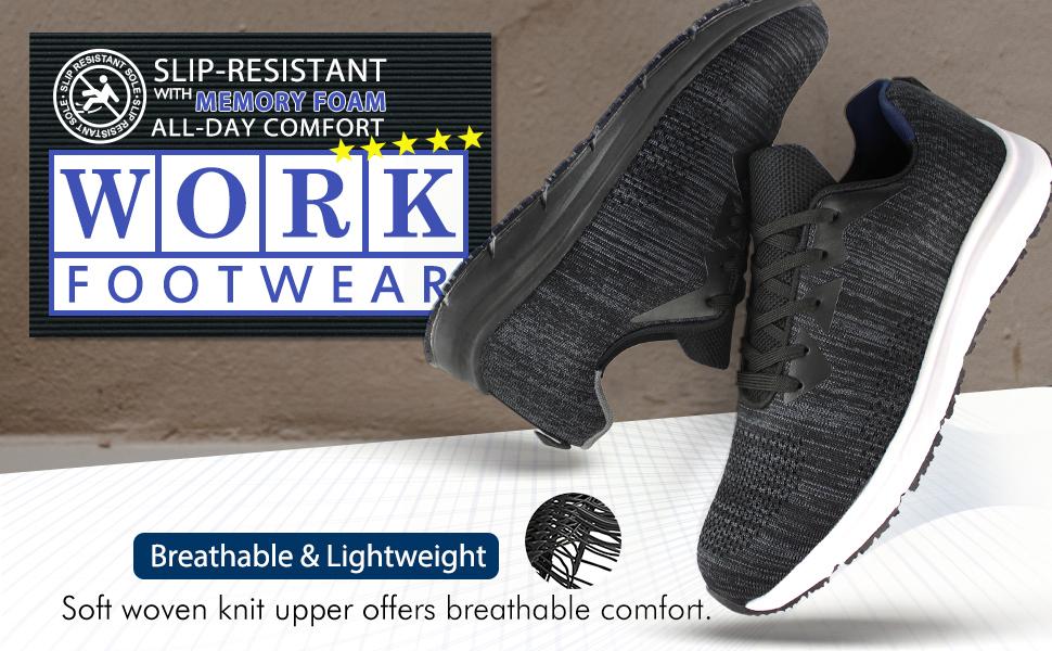 Men's Slip Resistant Food Service Work Sneaker