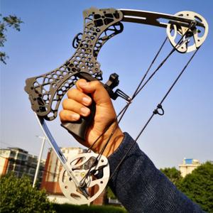 Archery Mini Compound Bow and Arrow Set 35lbs Complete Compound Bow Kits Right and Left Hand