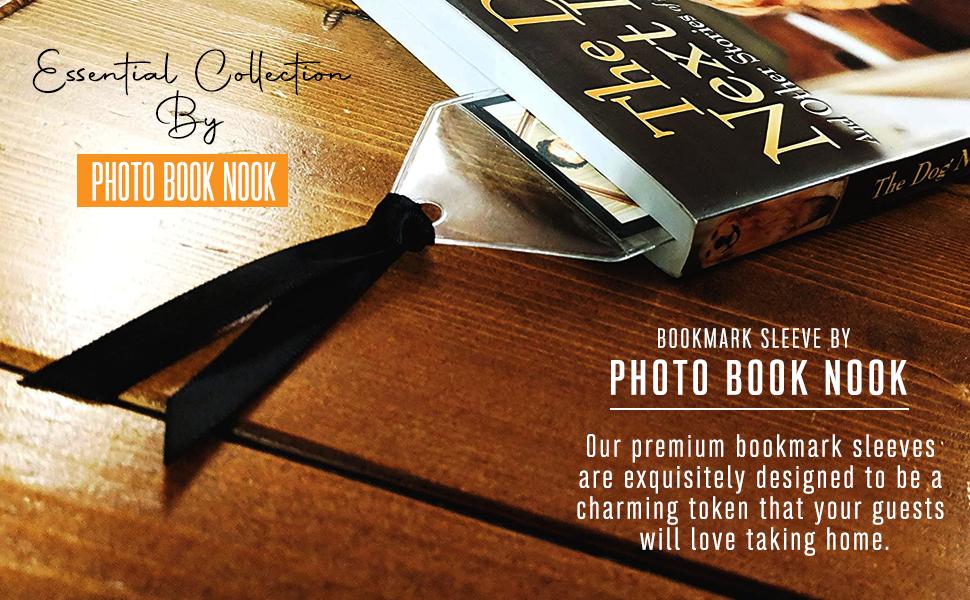 bookmark bookmarks sleeve photo vinyl magnetic booth 2x6 x picture  wedding photos fridge pockets