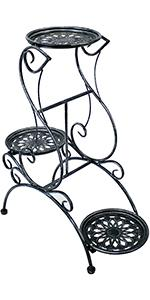 Sunnydaze 3-Tier Victorian Indoor Outdoor Plant amp;amp;amp; Flower Stand 31-Inch