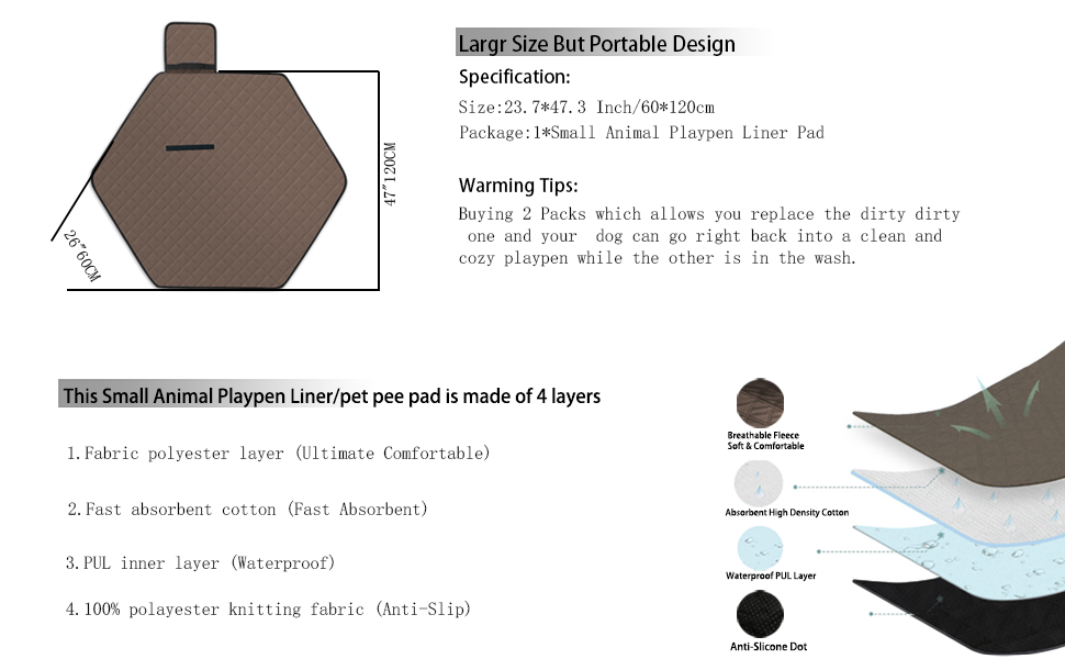 Sixbaola Hexagon Guinea Pig Pad