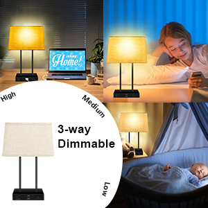 3-Way Dimmable Table Lamp