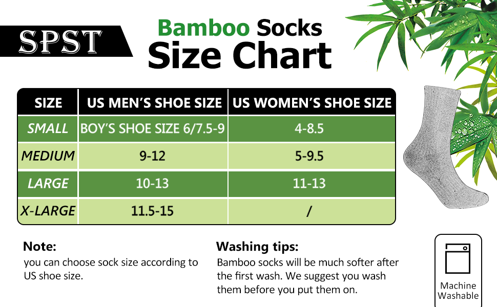 Bamboo Socks Unisex Super Soft Cushioned Comfortable Moisture Wicking Long Workout Socks