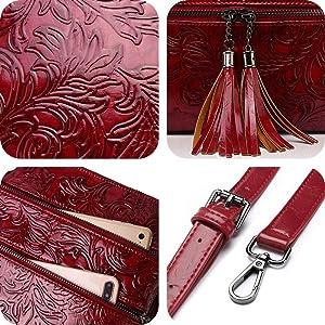 crossbody purses for women embossing shoulder bags