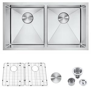 32 inch kitchen sink double sink